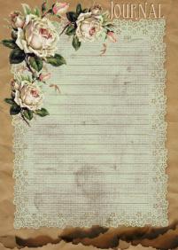 Glenda's world paper bag-n-aged doilie journal cardsPP