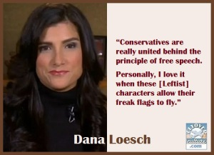 Unless it's a liberal or a progressive exercizing their right to free speech , hypocrites like Loesch are all for it.