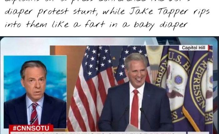 """CNN's Jake Tapper Rips 12-GOP Senator """"Diaper Sedition Caucasus"""" For Threatening To """"Soil The Count"""" If Biden Is Officially Certified AsPresident"""