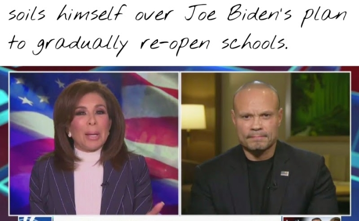 """Dan Bongino Accidently Craps His Pants On""""Justice With Judge Jeanine"""" – Or DidHe?"""