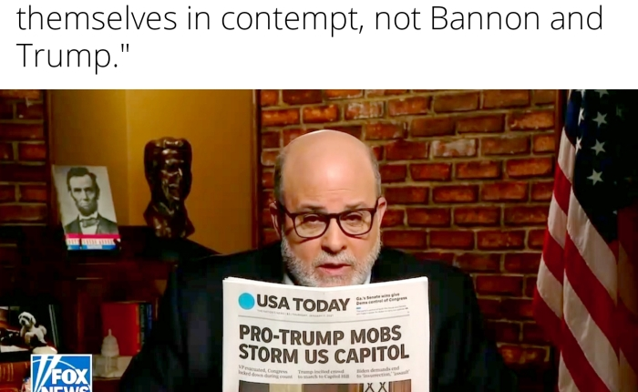 """Mark Levin: """"Democrats Should Hold Themselves And Antifa In Contempt For Invading The Capitol, Not SteveBannon!"""""""